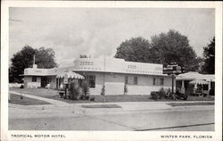 Tropical Motor Hotel Postcard