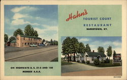 Hahn's Tourist Court Restaurant, on Highways U.S. 31-E and 150. Member A.A.A
