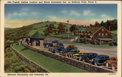 French Azilum Lookout and Marie Antoinette Inn Wyalusing Postcard