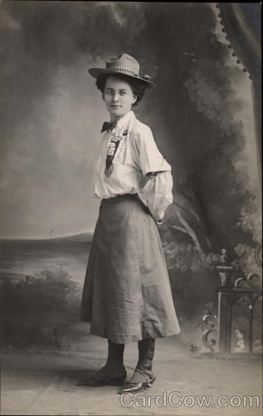 Woman's portrait in uniform Women