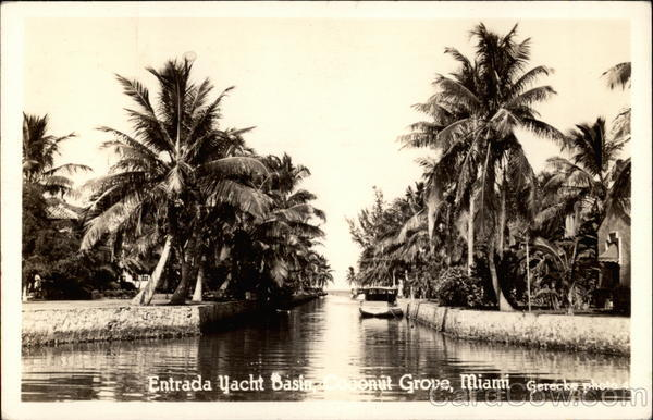 Entrance to Yacht Basin at Coconut Grove Miami Florida