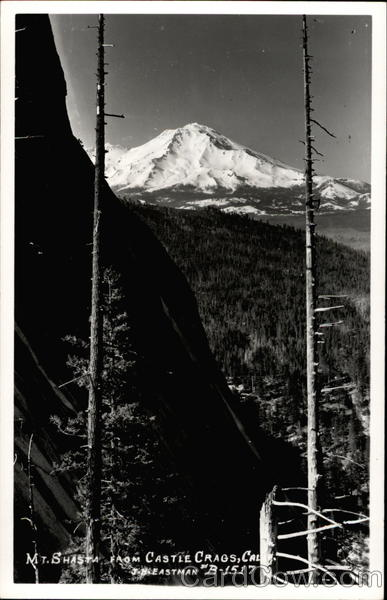 Mt. Shasta from Castle Crags California