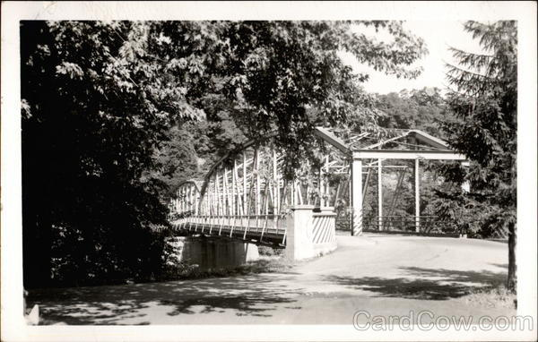 Metal truss bridge over a waterway Apollo Pennsylvania