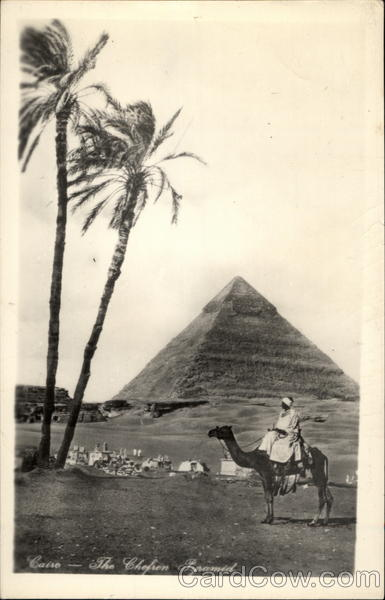 The Chefron Pyramid at Cairo Egypt Africa