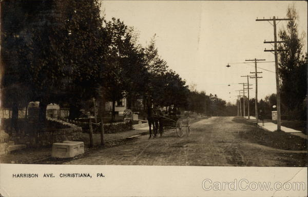 Harrison Ave with Horse Carriage Christiana Pennsylvania