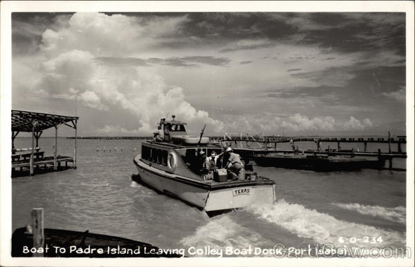 Boat to Padre Island Leaving Colley Boat Dock Port Isabel Texas