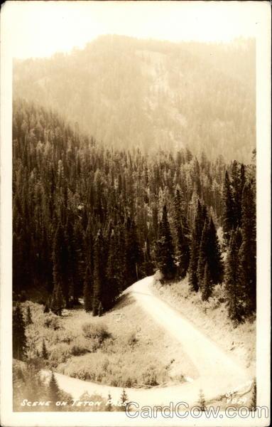 Scene on Teton Pass Wyoming
