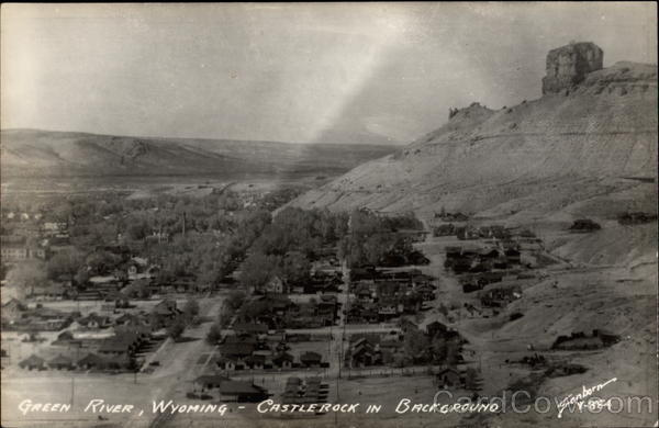 View of Green River with Castlerock in background Wyoming