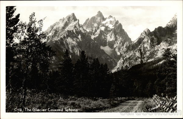 The Glacier Covered Tetons Teton National Park Wyoming