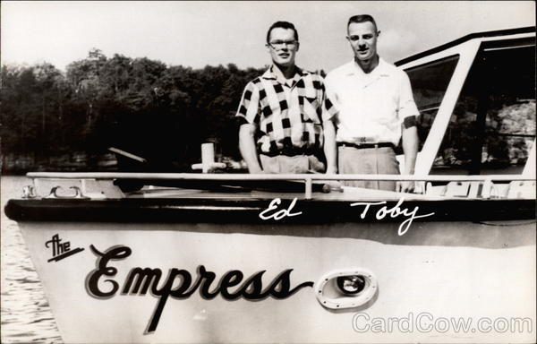 Ed & Toby on The Empress motorboat Boats, Ships
