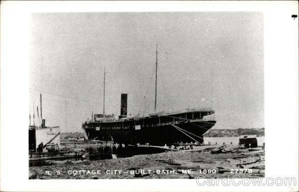S. S. Cottage City - Built Bath, ME. 1890 Steamers