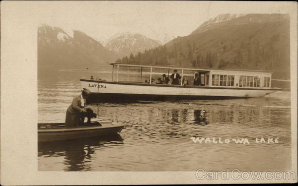 Boats on Wallowa Lake Oregon