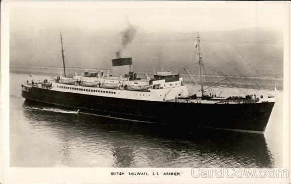 British Railways, S.S. Arnhem Steamers