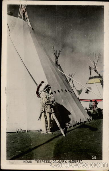 Indian teepees Calgary Canada Alberta Native Americana