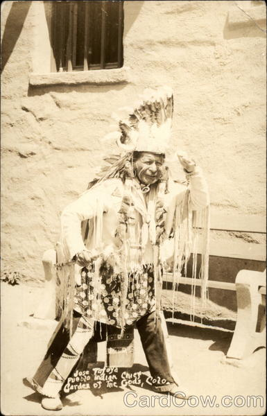 Jose Tafoya, Pueblo Indian Chief, Garden of the Gods Colorado Springs