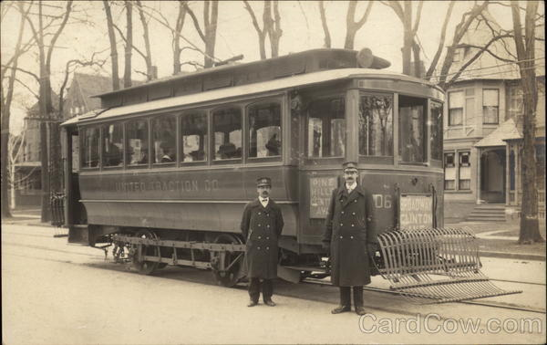 United Traction Company Streetcar Albany New York Trolleys & Streetcars