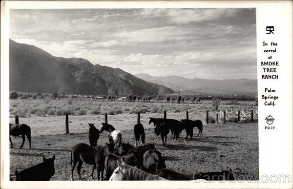 In the Corral at Smoke Tree Ranch Palm Springs California