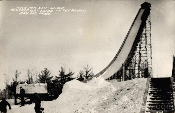 Pine Mt. Ski-Slide. Highest ski slide in the world Iron ...