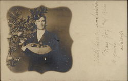 Gentleman's portrait with apple tree
