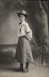 Woman's portrait in uniform