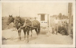 Mail Delivery Wagon, Horse Drawn