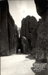 Needles Eye Tunnel on Needles Highway So. Dak. Blackhills L-313