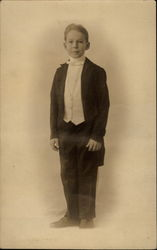 Young Boy in Formal Attire
