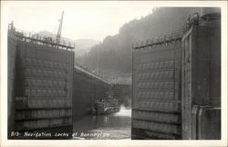 View of Navigation Locks at Bonneville