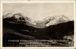 Timbered basin, Taylor's Fork & Taylor Peak