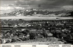 Absaroka Range and Livingston, Montana