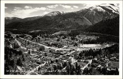 Bird's Eye View in the Coeur d'Alenes Postcard