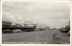 View of Commercial Street in Aransas Pass, Texas