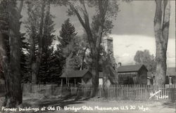 Pioneer Buildings at Old Ft. Bridger State Museum