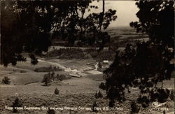 View from Sherman Hill Showing Ranger Station, Hwy U.S. 30