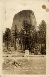 Looking Up at the Devils Tower National Monument