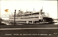 Steamer, Capitol on Mississippi River