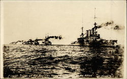 Finest ships of the German navy surrenduring to the Allies
