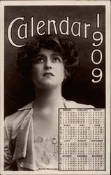 Calendar 1909 - Young Woman in Period Dress