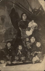American Native Woman with Children