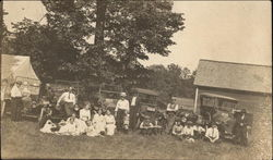 Group of Families and Early Automobiles
