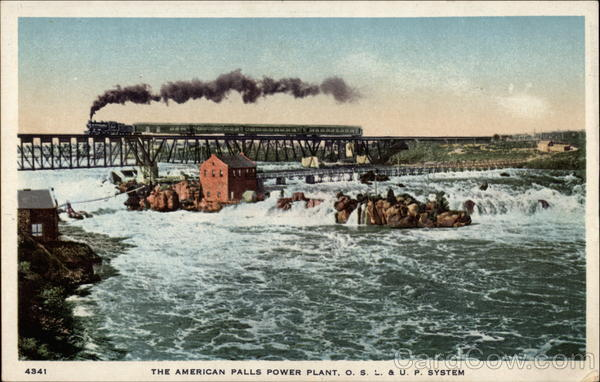 The American Falls Power Plant, O.S.L. & U.P. System Niagara Falls New York