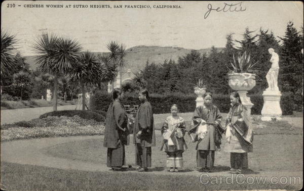 Chinese Women at Sutro Heights San Francisco California
