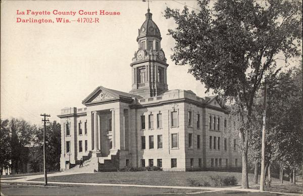 La Fayette County Court House Darlington Wisconsin