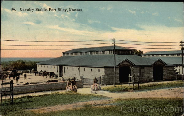 Cavalry Stable Fort Riley Kansas