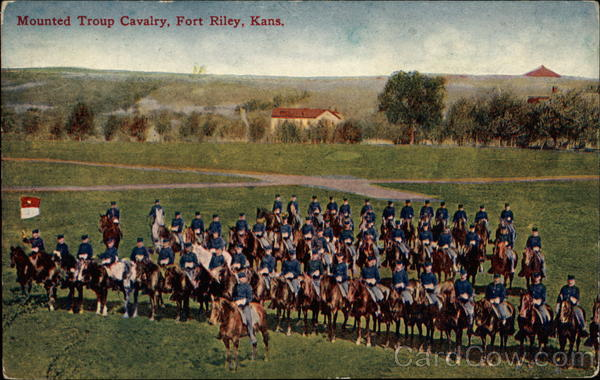 Mounted Troup Cavalry Fort Riley Kansas Military