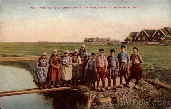 Fishermen's Children Eiland-Marken Holland Benelux Countries
