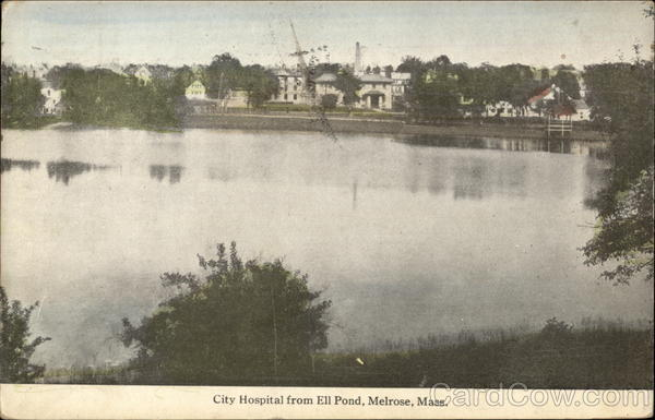 City Hospital from Ell Pond Melrose Massachusetts