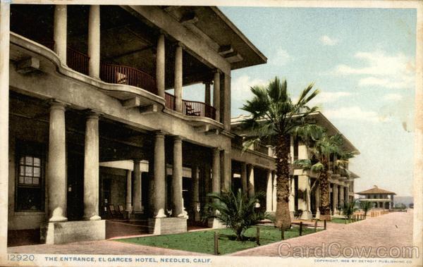 Entrance Of El Garces Hotel Needles California