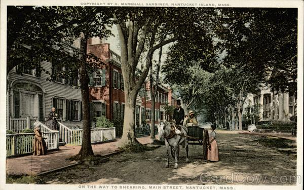 On the Way to Shearing, Main Street Nantucket Massachusetts