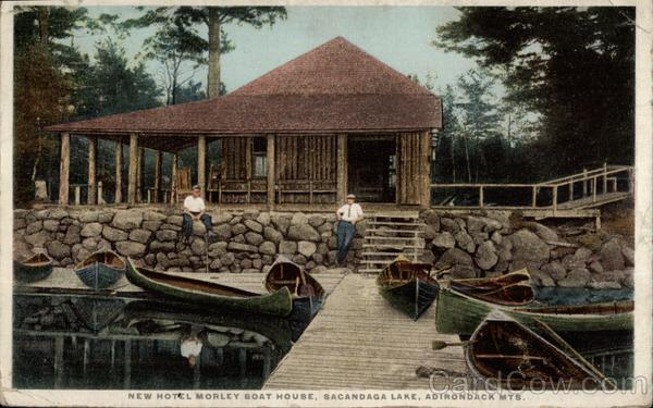 New Hotel Morley Boat House, Sacandaga Lake, Adirondack Mts New York